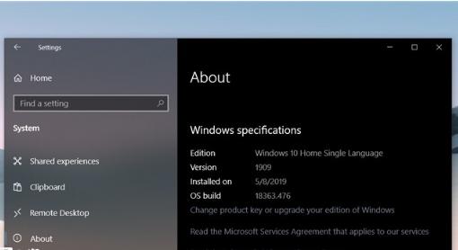 微软开始大规模升级2019 Windows10十一月版
