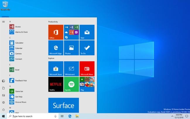 微软推送Windows 10 20H1快速预览版19028