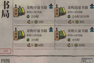 江南百景图书局双倍奖励是什么 书局双倍奖励解析